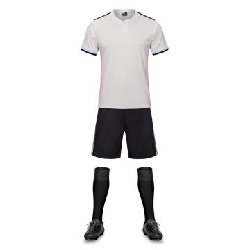 Polyester light grey color soccer jersey with split