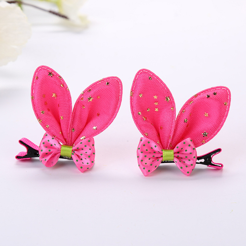 Bow tie rabbit ear hairpin rabbit ear clip (7)