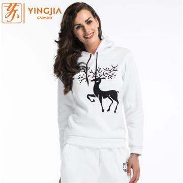 Autumn Women's Snowflake Deer Printed Christmas Hoodies