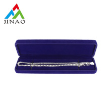 Blue Elegant Velvet Plastic Jewelry Box for Bracelet