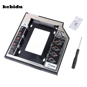 kebidu 9.5mm 2nd 2.5 HDD Caddy SATA to SATA Hard Drive Adapter HDD Enclosure Case For Laptop Optical Drive Bay