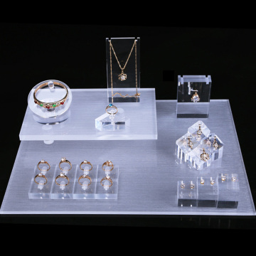Luxury acrylic jewelry store counter display showcase