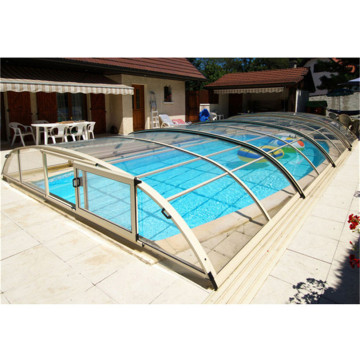 Cheap Price Aluminium Electric Swimming Pool Cover Enclosure