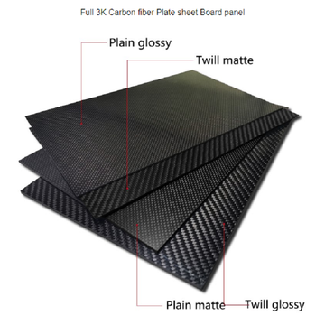 high strength carbon fiber lamination board twill cfrp carbon fiber plate panel