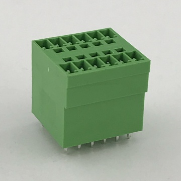 Double layers straight PCB terminal block connector