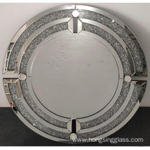 Crystal diamond round modern hanging mirror