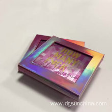 3D eco cosmetic packaging color makeup palette