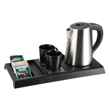 hotel luxury Anti-hot electric kettle with integral Tray