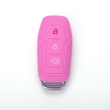 Dmbossed design ford silicone car key holder