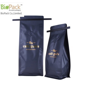 12 oz Biodegradable coffee bag with BPI certificate