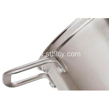 Silver Kitchen Cookware Double Boiler Steamer