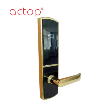 surface bright gold treatment for upscale hotel locks