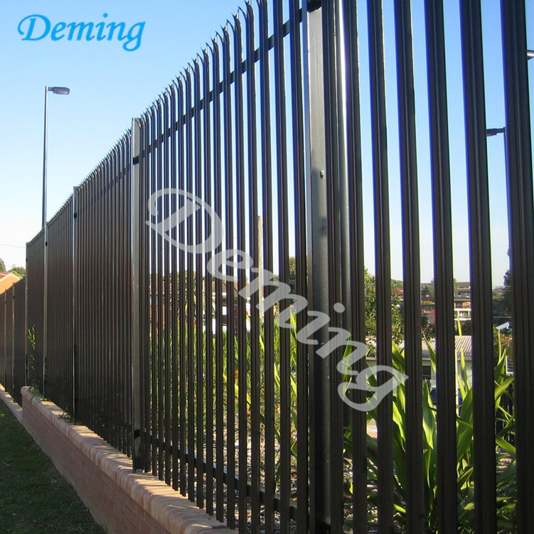 D and W type Palisade Fencing / Galvanized Steel Palisade Fence Panel