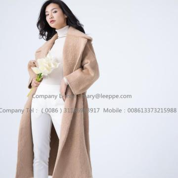 Cashmere Coat With Mohair Long