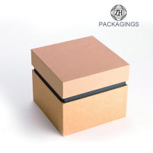 Custom box packaging for watch with lid