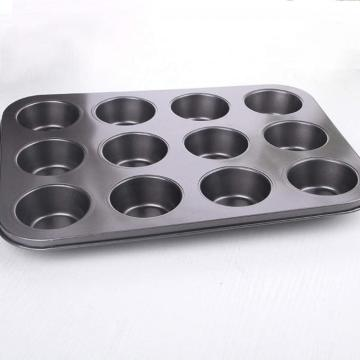 12 Cups Non Stick Muffin Pan-Black