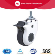115Kg Threaded Brake TPU Medical Caster