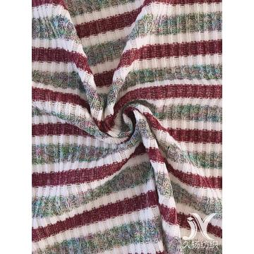 Rib Fabric Multicolor Stripes