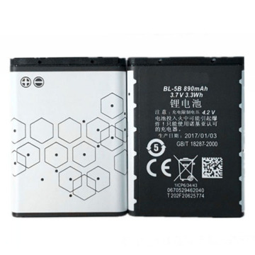High quality lithium ion battery BL-5B 3.7v