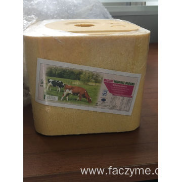 Mineral licking blocks for calves