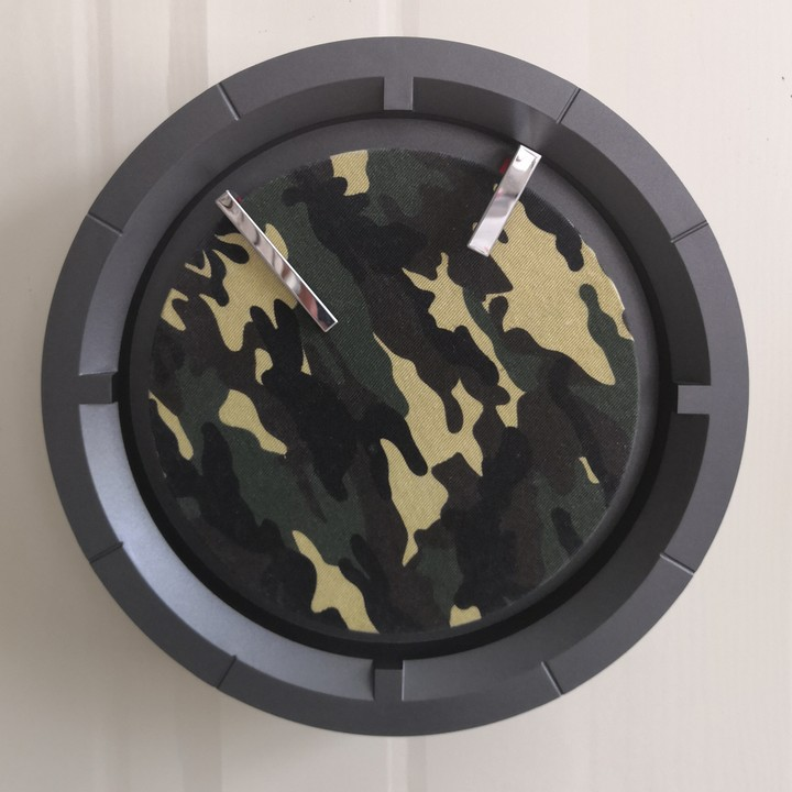 Wall Clock With Camouflage Fabric