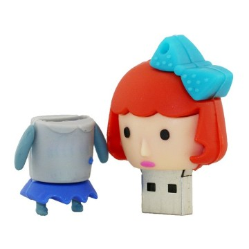 Lovely Cartoon PVC USB Flash Drive