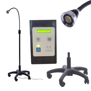LED examination lamp with castors