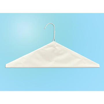 White Powder Plain Cape Wire Hanger