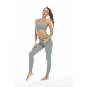Women Sports Bra and Legging Pants Yoga Suit