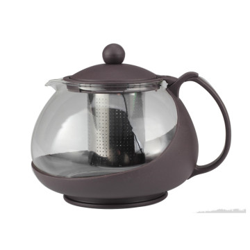 1200ml Stylish Glass Tea Kettle with Removable Strainer