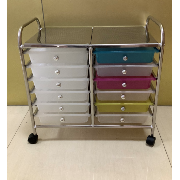 12 drawers rolling cart