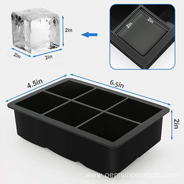 Custom Silicone  Ice Cube Trays Molds