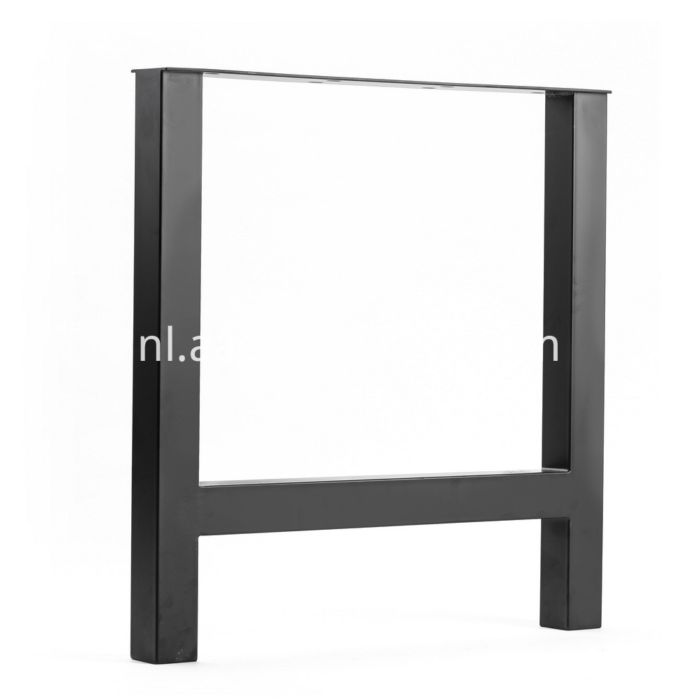 Metal Black Powder Coating Finish Dining Table 2