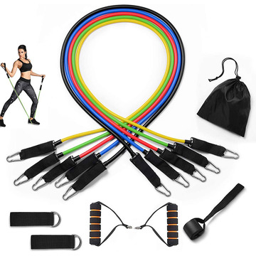 11 Pcs Fitness Workout Resistance Bands Set