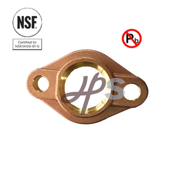 NSF approved lead free bronze or brass water meter flange