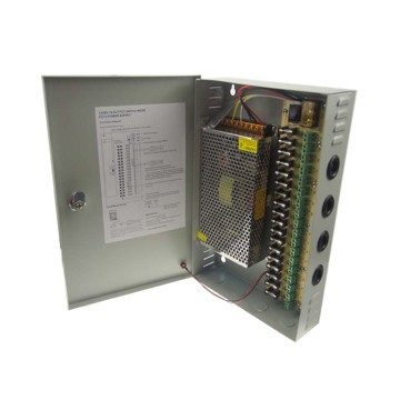 12v 10a 18-channel cctv power supply box