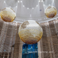 Hotel exhibition center customized large ball chandelier