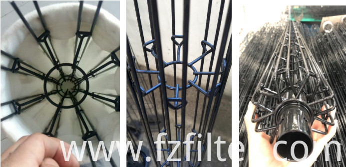 Carbon Steel Pleated Double Wires Cages
