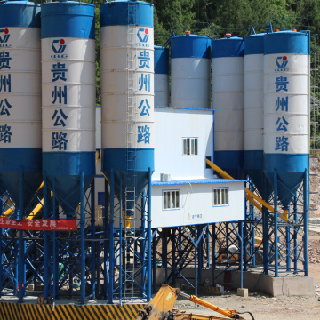 HZS180 fixed type concrete batching plant in Pakistan