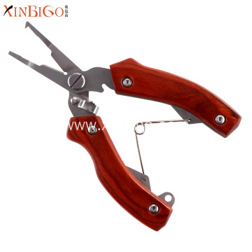 New Style Pakka Wood Handle Fishing Pliers