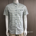 Custom men's print short sleeve shirt