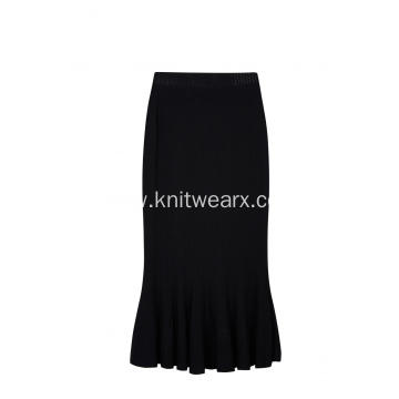 Women's Knitted Elastic Waist Fishtail Lady Skirt