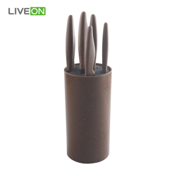 Chinese Black Stainless Steel 6pcs Knife Set
