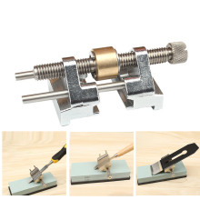 Stainless Steel Side Clamping Fixed Angle Honing Guide for Wood Chisel Planer Blade Flat Chisel Edge Sharpening QE