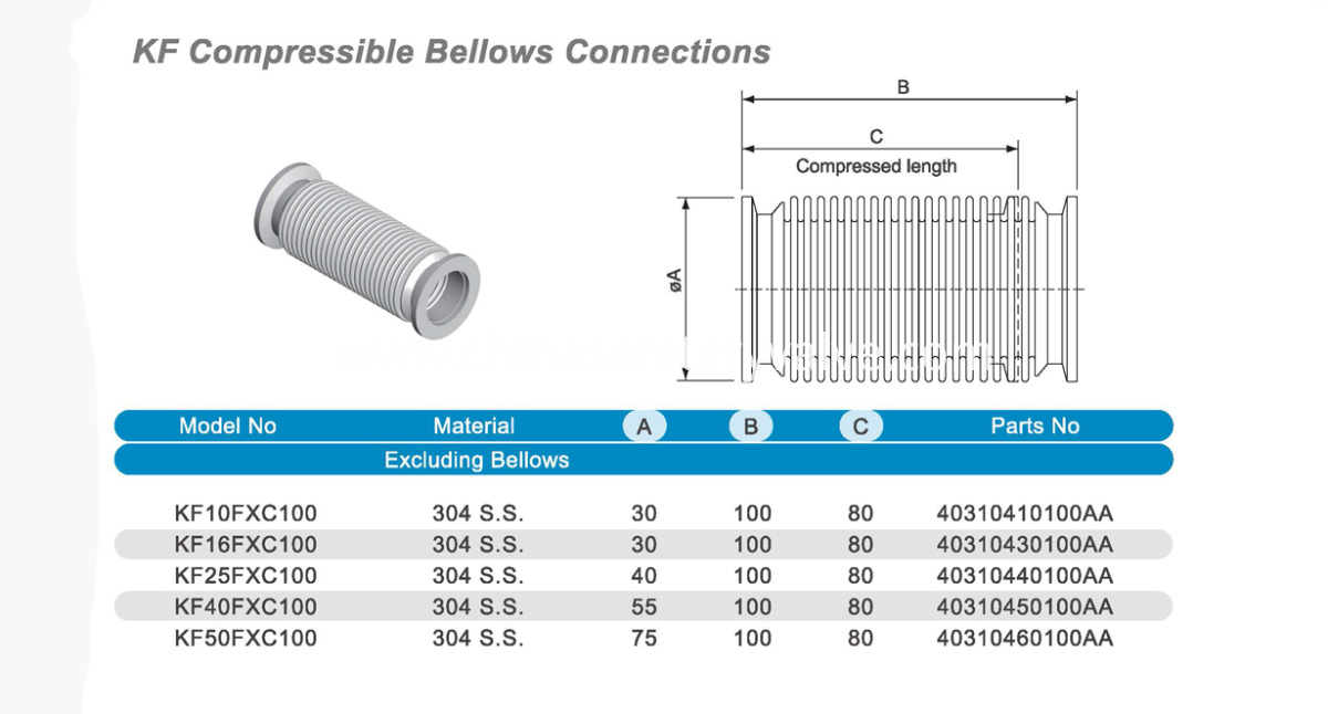 KF Compressible Bellows
