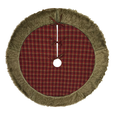 tree skirt christma traditional red