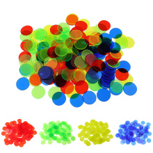 100pcs Translucent Bingo Chips 3/4 Inch for Bingo Poker Game Cards Accessory Board Game Counters Bingo Game Chips
