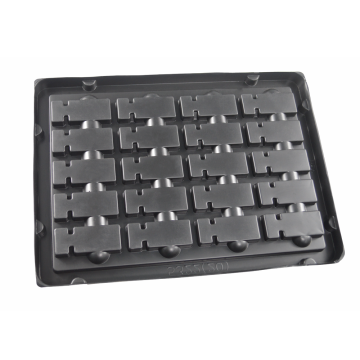 black vacuum thermoforming packaging electronics tray