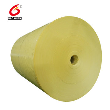 Double side PE silicone coated yellow release paper