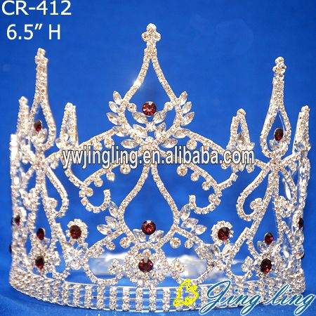 Red Rhinestone Beauty Pageant Crowns